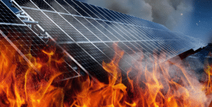zonnepanelen in brand